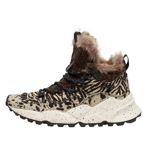 MOHICAN WOMAN Leather Sneakers Tiger pattern 2014298010D02-30