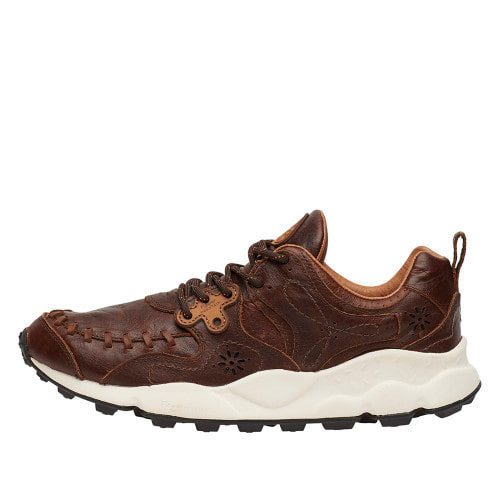 YAMANO MAN Leather sneakers Brown 2014300030D01-30