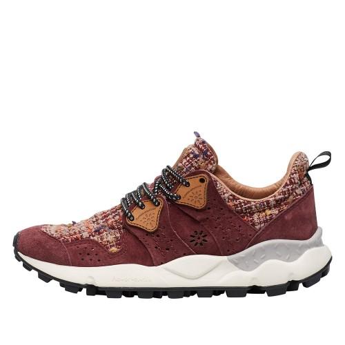 CORAX WOMAN Sneaker in suede Burgandy 2015284051H38-30