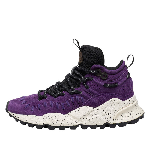 MOHICAN WOMAN High top sneaker in suede Purple 2015289020I02-30