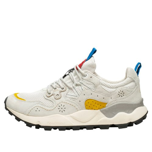 YAMANO 3 MAN Technical fabric and suede sneaker White 2015665030N01-30