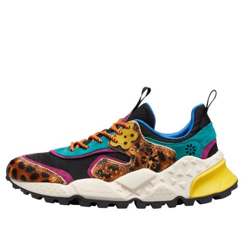 KOTETSU WOMAN Printed pony hair and suede sneakers Brown/Black 2016236081D33-30