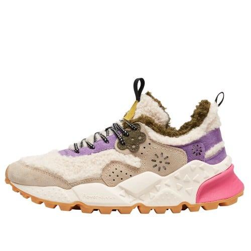 KOTETSU WOMAN Faux shearling and vegan-friendly suede sneakers Beige/Purple 2016236091E68-30