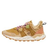 CORAX WOMAN - Nubuk sneakers - Mustard