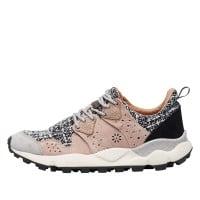 CORAX WOMAN - Sneaker in suede - Grey/pink