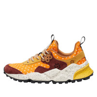 KOTETSU WOMAN - Sneaker in cavallino and suede - Orange