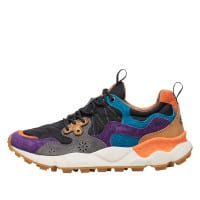YAMANO 3 MAN - Sneaker in technical fabric and suede - Purple/Black