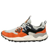 YAMANO 3 MAN - Sneaker in technical fabric and suede - ORANGE-BLACK