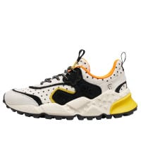 KOTETSU WOMAN - Suede and pony hair sneakers - White/Black