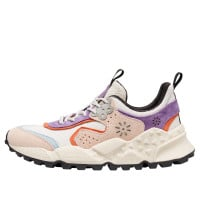 KOTETSU WOMAN - Suede and pony hair sneakers - Pink/White