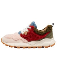 PAMPAS WOMAN TEDDY - Faux shearling sneakers - Pink/Burgundy