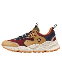 KOTETSU MAN HOOKS - Suede and technical fabric sneakers - Brown