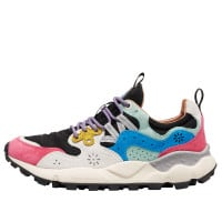 YAMANO 3 WOMAN - Technical fabric and suede sneakers - Fuchsia/Black