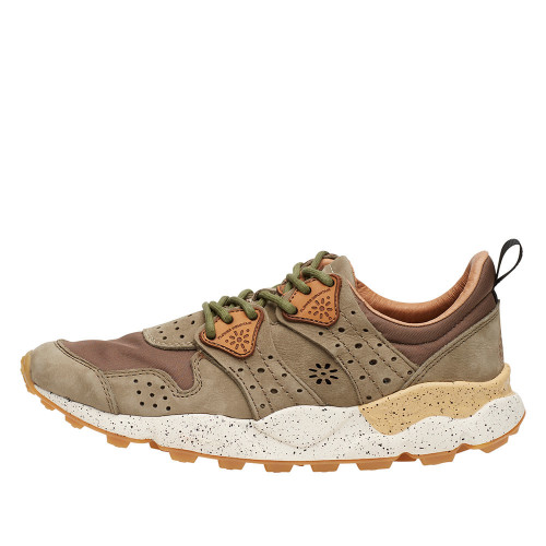 CORAX MAN Sneakers in pelle Militare 2014302010F03-30