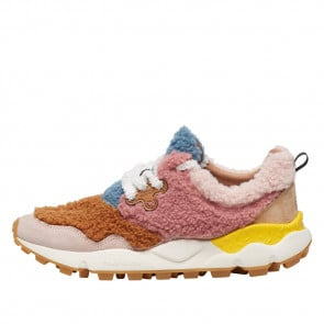 PAMPAS WOMAN TEDDY Sneaker in eco-shearling e suede Rosa 2015418010M02-20