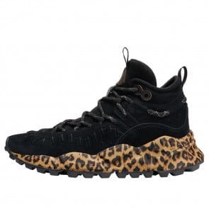 MORICAN WOMAN Printed-sole suede sneakers Black 2016300040A01-20