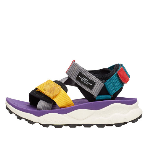NAZCA 2 WOMAN Sandals with multicolour tapes Violet/Multicolor 0502690020I02-30