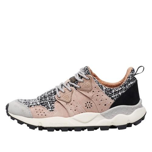 CORAX WOMAN Sneaker in suede Grey/pink 2015284051B85-30