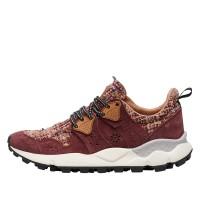 CORAX WOMAN - Sneaker in suede - Burgandy