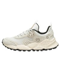 KOTETSU MAN - Sneaker in suede and technical fabric - White