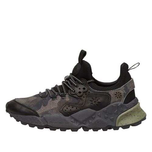 KOTETSU MAN Sneakers in pelle e tessuto Nero 2014304040A01-30