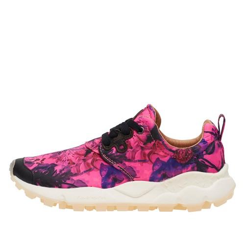 PAMPAS WOMAN Sneaker in tessuto stampato fluo NEON FUXIA 2014756010L04-30