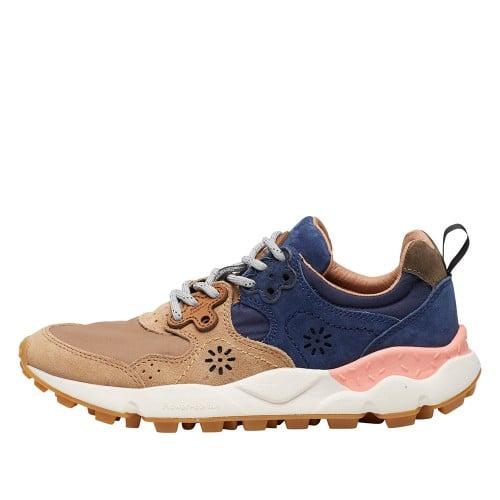 YAMANO 2 WOMAN Sneaker in tessuto tecnico e suede Blu/Beige 2015291071C88-30