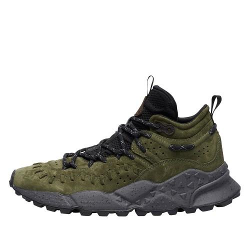 MORICAN MAN Sneaker alta in suede con dettaglio eco-fur Verde/Militare 2015305051F65-30