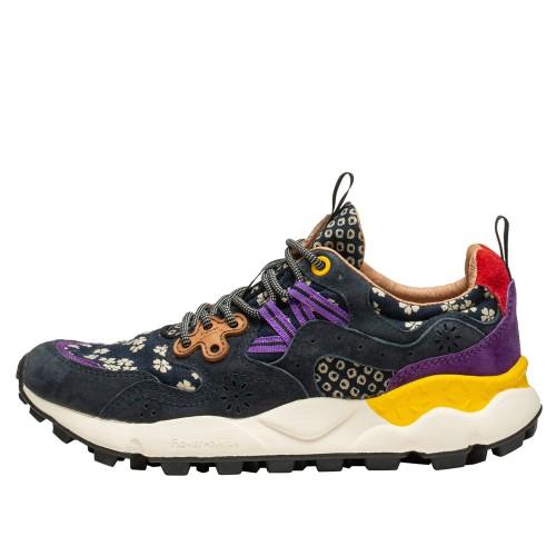 YAMANO 3 WOMAN Sneaker active con stampe DARK NAVY FLOWER 2015663021C91-30