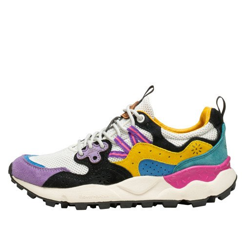 YAMANO 3 WOMAN Sneaker active con stampe WHITE-VIOLET 2015663031N34-30