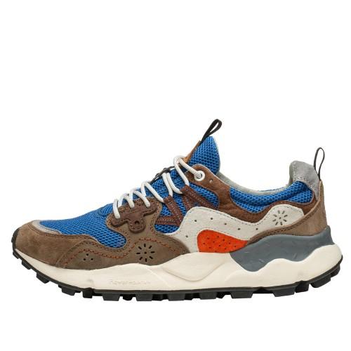 YAMANO 3 MAN Sneaker in tessuto tecnico e suede ROYAL-BROWN 2015665031C13-30