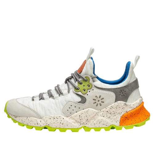 KOTETSU MAN (SOCKS) Sneaker in suede e tessuto tecnico WHITE-YELLOW FLUO 2015730011N40-30
