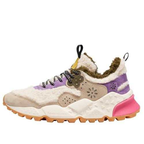 KOTETSU WOMAN Sneaker in eco-shearling e vegan suede Beige/Viola 2016236091E68-30