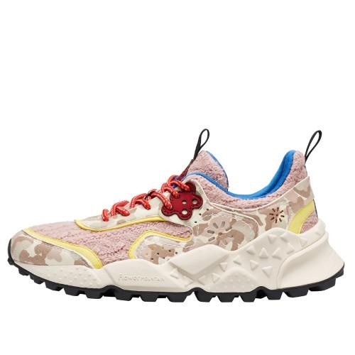 KOTETSU WOMAN Sneaker in magli e pelle stampata Beige/Rosa 2016236111E03-30