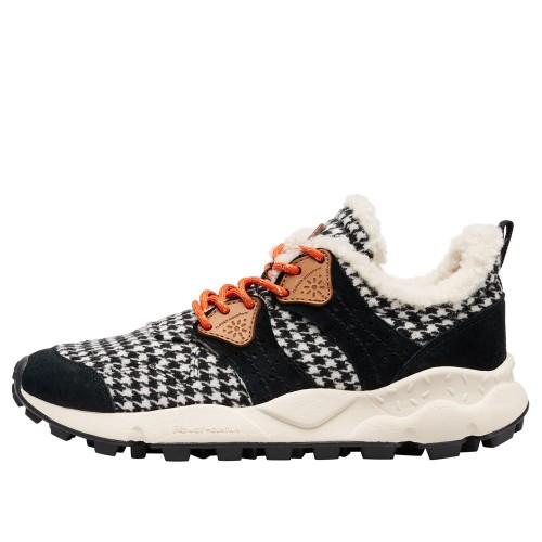 CORAX WOMAN Sneaker in tessuto e suede con fodera in eco shearling Nero 2016237041A08-30
