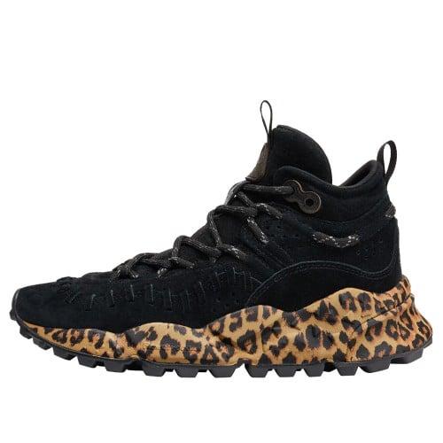 MORICAN WOMAN Sneaker in suede con suola stampata Nero 2016300040A01-30