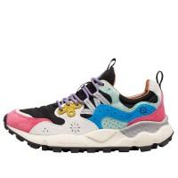 YAMANO 3 WOMAN - Sneaker in tessuto tecnico e suede - Fuxia/Nero