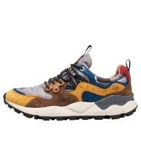 YAMANO 3 MAN - Sneaker in tessuto tecnico e suede - Zucca/Grigio