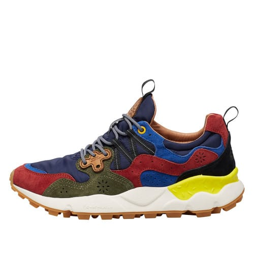 YAMANO 3 MAN Sneaker in technical fabric and suede Burgandy/Navy 2015422011H04-30