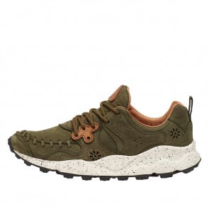 YAMANO MAN Leather sneakers Military Green 2014300010F03-20