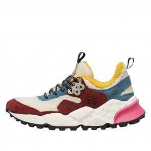 KOTETSU WOMAN Sneaker in eco-shearling and suede White/Multicolour 2015286030N01-20