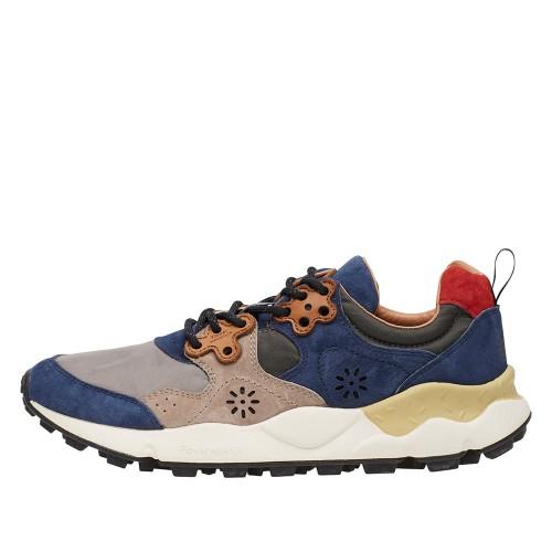 YAMANO 2 MAN Cordura and nabuk sneakers Navy-Grey 2014763011C05-30